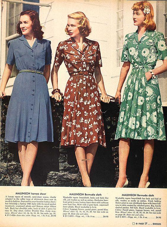 1940s Dresses - cute post - Img