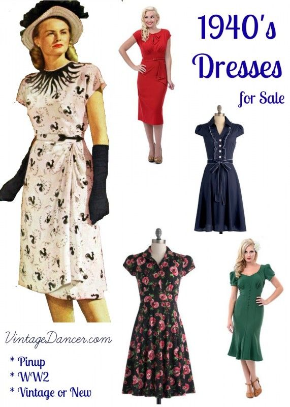 10+ Websites with 1940s Dresses for Sale   1940s dresses, 1940s .
