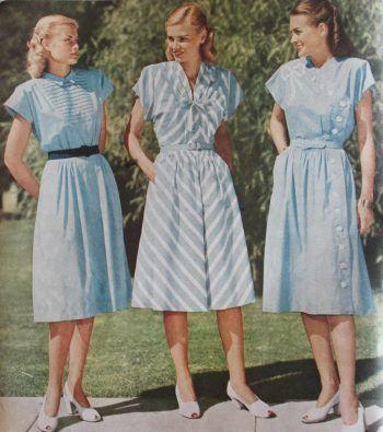 15 Classic Vintage 1940s Dress Styles   1940s fashion dress