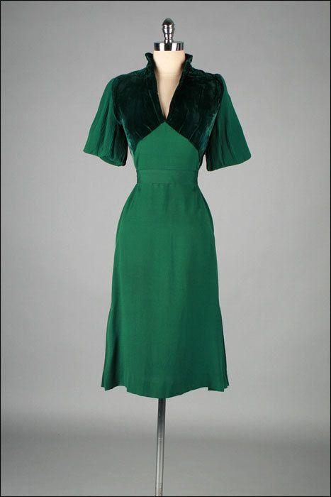 Dress 1940s Mill Street Vintage (OMG that dress!)   1940s dresses .