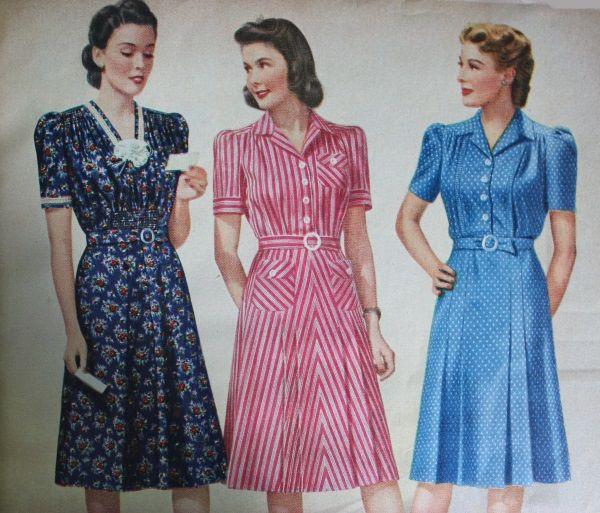 15 Classic Vintage 1940s Dress Styles   1940s fashion dresses .