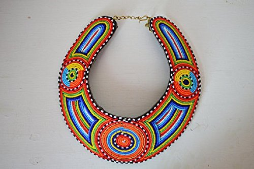Amazon.com: Bead Leather Necklace , African Jewelry , Beaded .