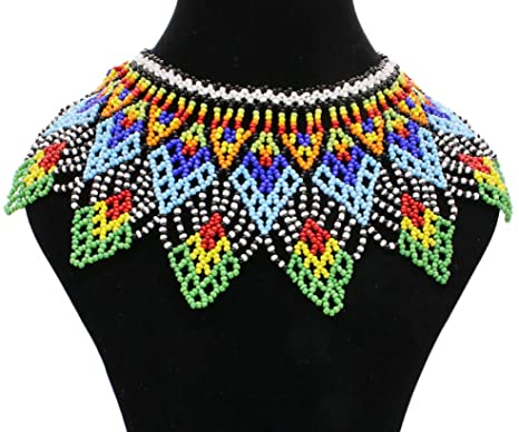 Amazon.com: Multicolor African Necklace| African Jewelry| Zulu .