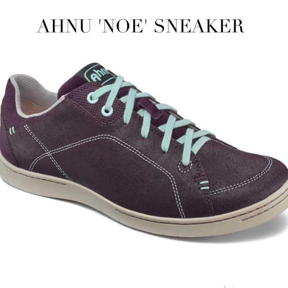 Ahnu 'Noe' Leather Sneaker Wine Port Burgandy | Leather sneakers .