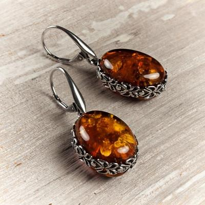 Amber Stone Earrings - Certified Amber Jewelry - Women And Fashion .