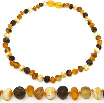 """Amazon.com: Mama Natural Amber Necklace - 12.5"""" - Truly Raw 100 ."""