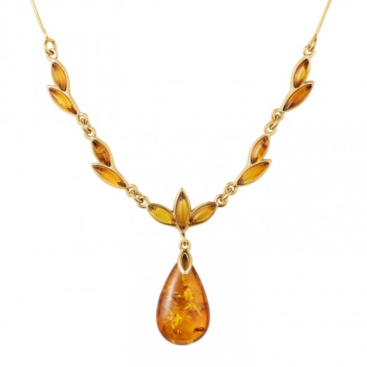 Sunset Baltic Amber Necklace | Timepieces Internation