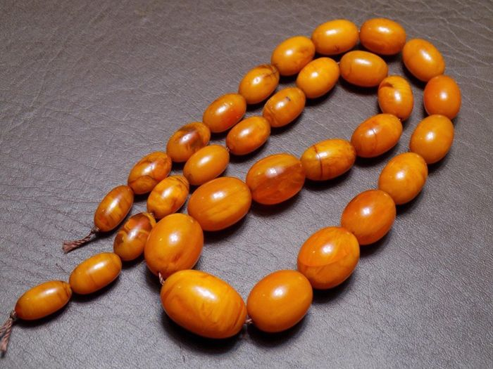 Amber necklace, 100% Baltic Amber, 53 grams - Catawi