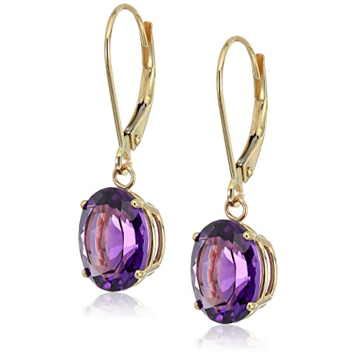 Gold Amethyst Earrings: Amazon.c