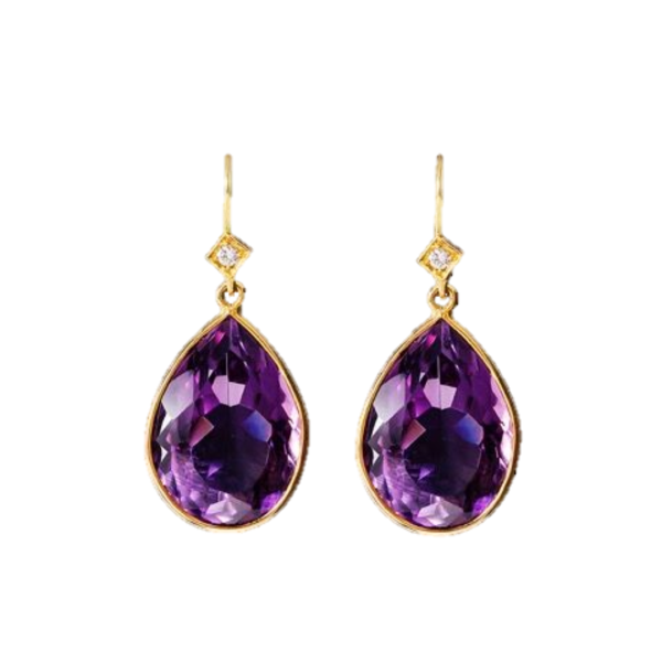 Amethyst & Diamond Earrings – Alon Shi