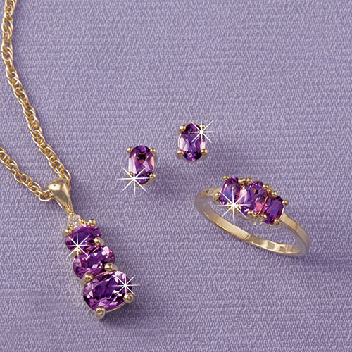 Amethyst Jewelery Set | The Paragon Catal