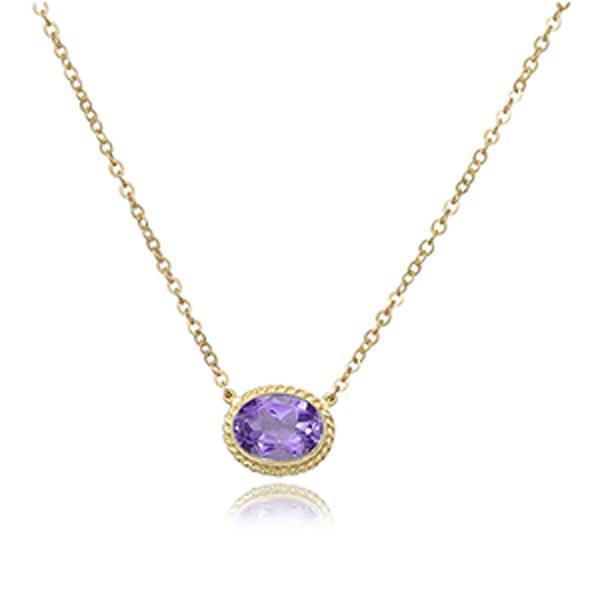 Barmakian | Carla Oval Amethyst Pendant | Barmakian Jewele