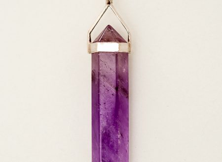 Amethyst Pendant | Double Terminated Point | Crystal Life .