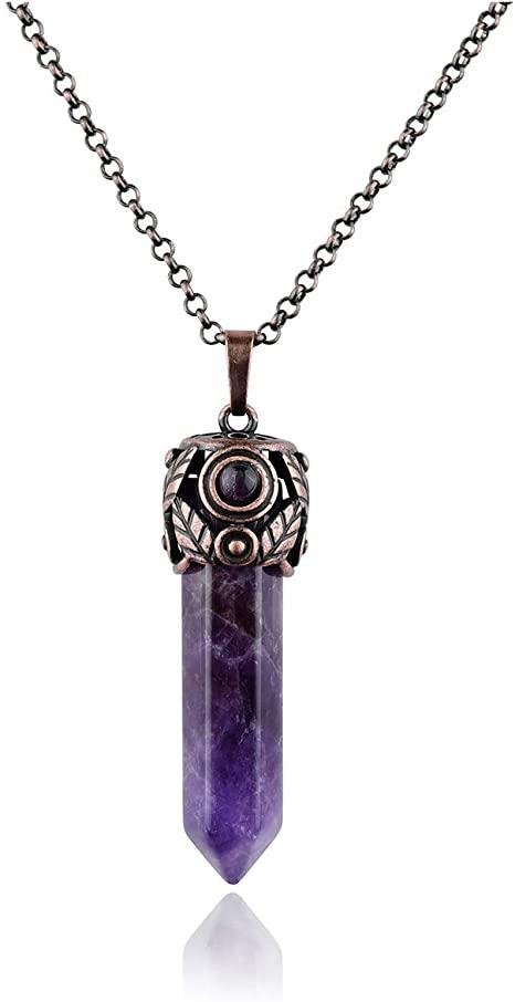 Amazon.com: Top Plaza Amethyst Healing Crystal Stone Hexagonal .