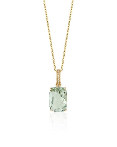 14K Yellow Gold, Amethyst & Diamond Penda