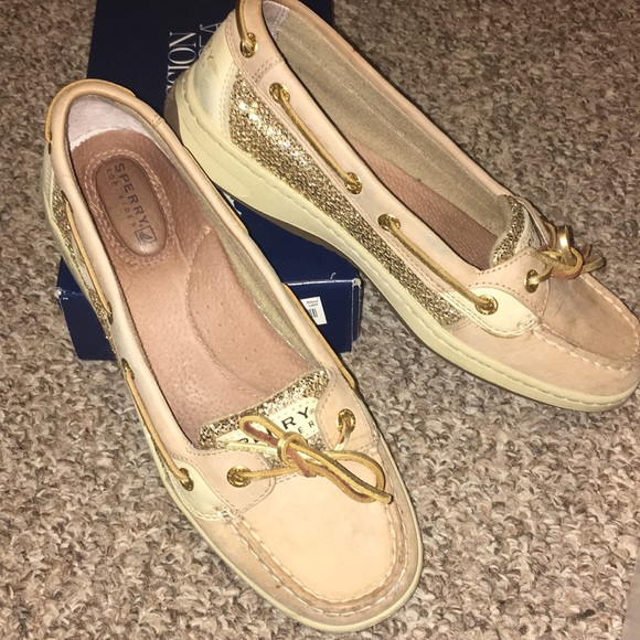 Sperry Shoes | Angelfish Gold Glitter Boat | Poshma