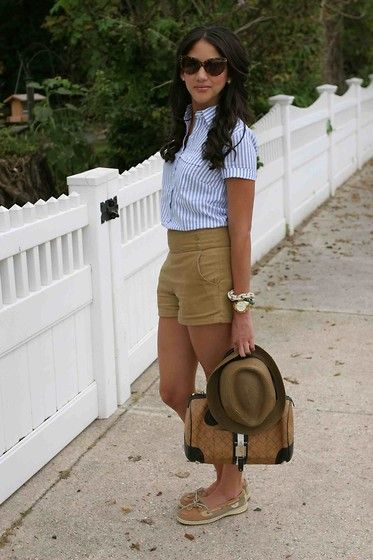 J. Crew Popover Shirt, Sperry Top Sider Angelfish Boat Shoes, J .