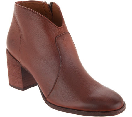 Frye Leather Ankle Boots - Nora Zip Short - Page 1 — QVC.c