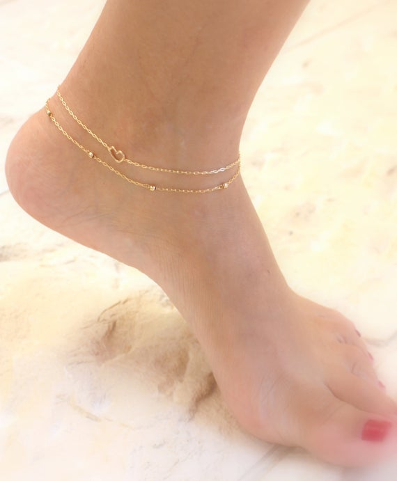 Layered Gold Anklets Chain Ankle Bracelets Dainty Gold   Et