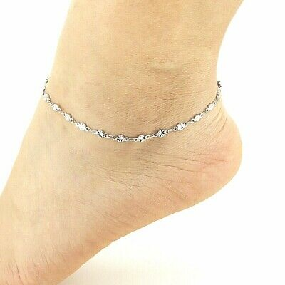 Foot Jewelry Stainless Steel Anklets Shinning Sun Flower Ankle .