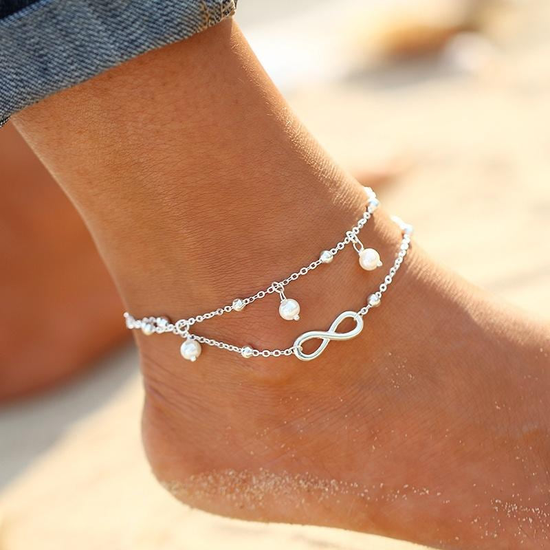 1PC Hot Summer Beach Ankle Infinite Foot Jewelry Anklets ankle .