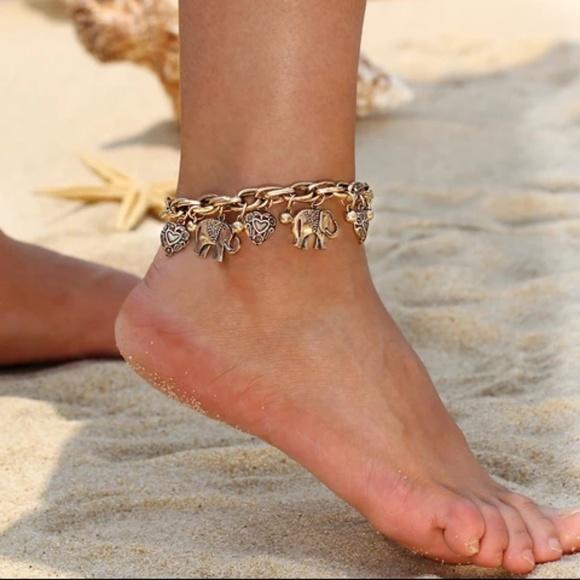 Ankle Bracelet Jewelry | Elegant Elephant S | Poshma