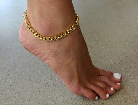 Gold Ankle Bracelet Beach Ankle Bracelet Ankle Jewelry Foot | Et