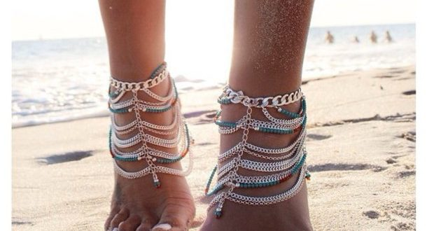 jewels, anklet, boho, gypsy, ankle jewelry, boho jewelry - Wheretog