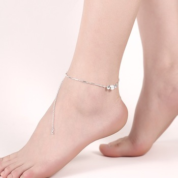 2017 Pure Silver Anklet Jewelry Fashion Jewelry Stone Anklets .