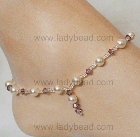 Custom #Anklet for your #Beach #Wedding | Ladybead Barefoot Bri