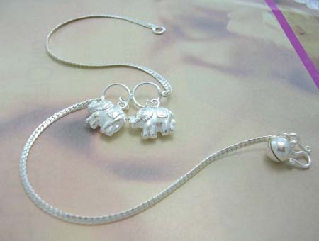 Fashion anklet with animal design supplier import sterling silver .