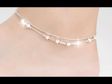 Stylish light weight Silver Anklets designs || latest anklets .