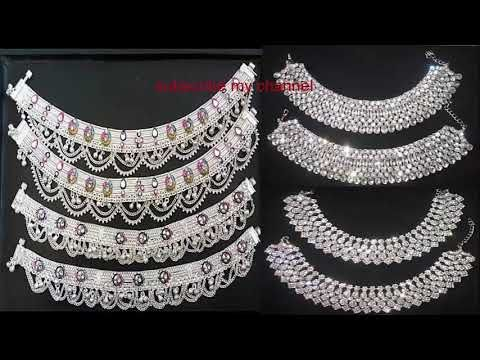 Silver Anklet Design 2019 || Latest Silver Payel Design Collection .
