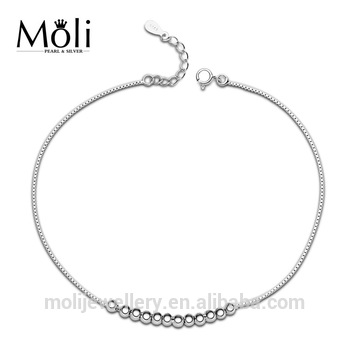 New Design Silver Ball 100% Sterling Silver Anklet - Buy Silver Ball .