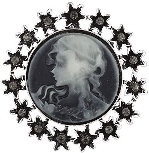 Amazon.com: YOUYUZU Vintage Rhinestone Victorian Lady Cameo Brooch .