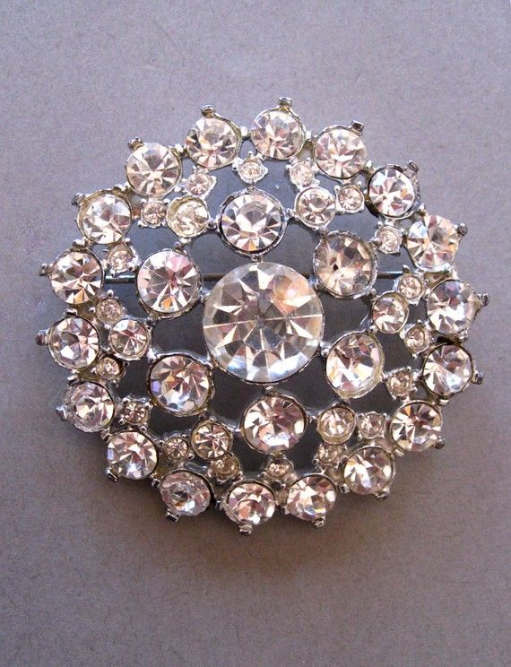 Vintage Rhinestone Brooch I still have one of these from when I .