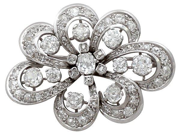 Edwardian Diamond Brooch | Antique Brooches | AC Silv