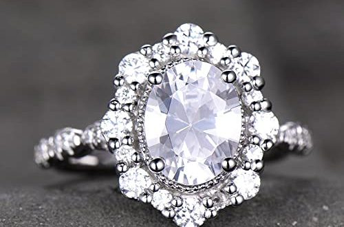 Amazon.com: Antique Engagement Ring Diamond Simulated Wedding Ring .