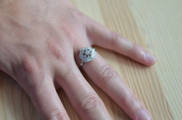 My antique engagement rin
