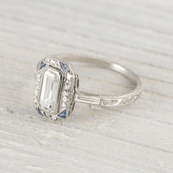 Ring roundup: more Art Deco engagement rings. | Antique engagement .
