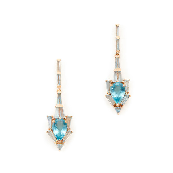 Anchor Rose-Gold & Aquamarine Earrings | Nak Armstrong - Goop Sh