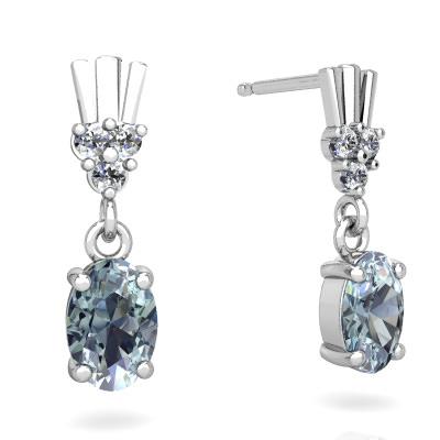 Aquamarine Art Deco Dangle earrings E1881-WAQ