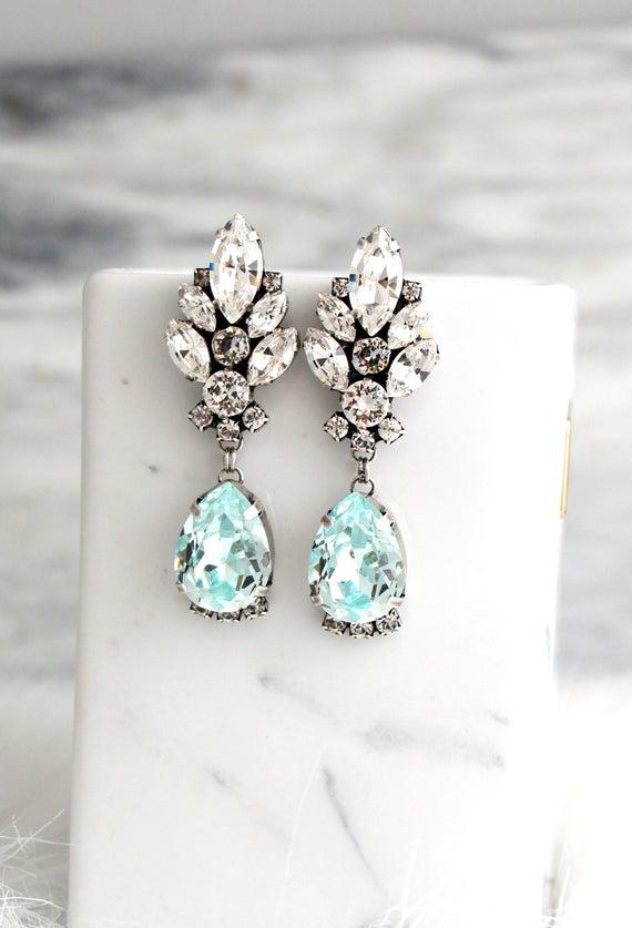 Bridal Earrings Aquamarine Earrings Aquamarine Bridal Silver | Et