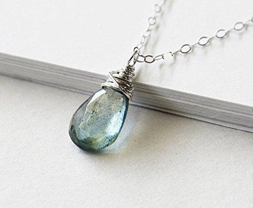 Amazon.com: Moss aquamarine necklace, march birthstone jewelry .