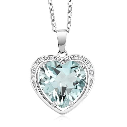 Aquamarine Chain Necklaces: Amazon.c