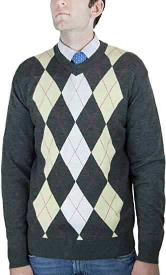 Blue Ocean Argyle Sweater at Amazon Men's Clothing store: Sweater .