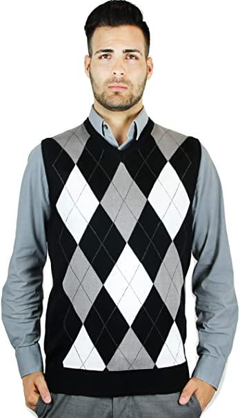 Blue Ocean Argyle Classic Sweater Vest at Amazon Men's Clothing sto