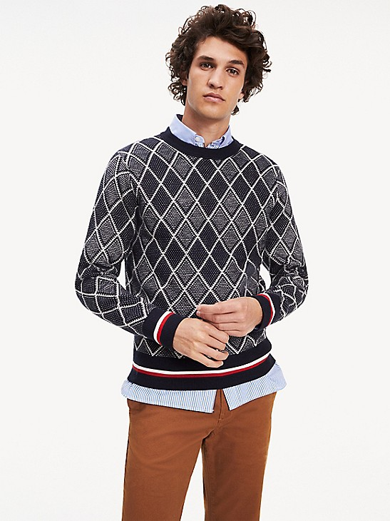 Tipped Argyle Sweater | Tommy Hilfig