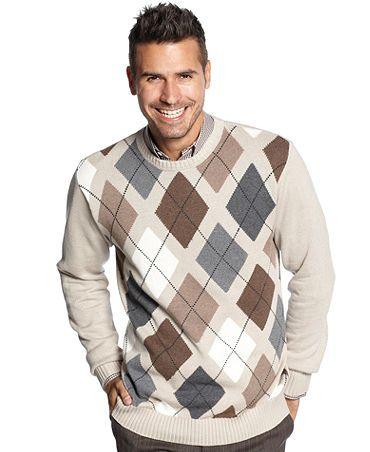 Argyle sweater | Men sweater, Knitwear men, Argy