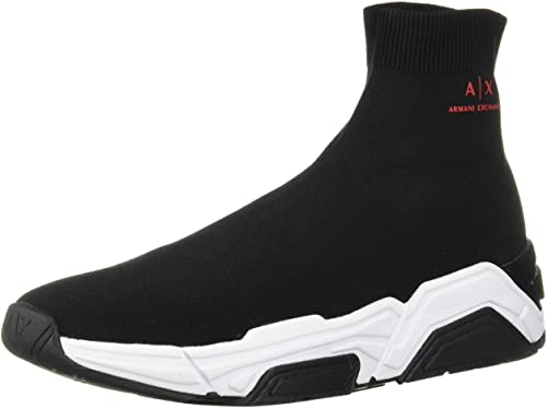 Amazon.com: A|X Armani Exchange Men's Sock Boot Sneaker: Sho